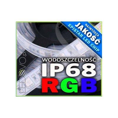 WODOSZCZELNA TAŚMA LED RGB Epistar 5050 150 LED / 5mb / IP68