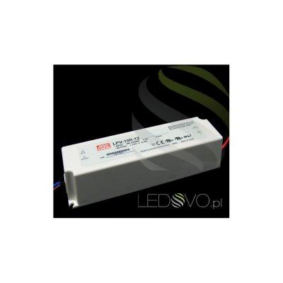 MeanWell Zasilacz HERMETYCZNY LPV100W 12V wodoodporny IP67
