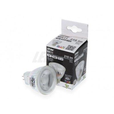 Żarówka LED MR11 SMD 10~14V 3W 210lm biała ciepła 2700K