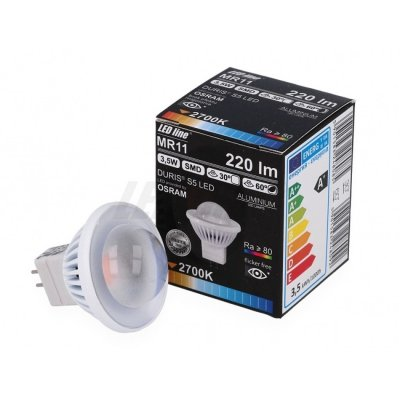 Żarówka LED MR11 SMD 12V DC3,5W 220lm biała ciepła 2700K 60°