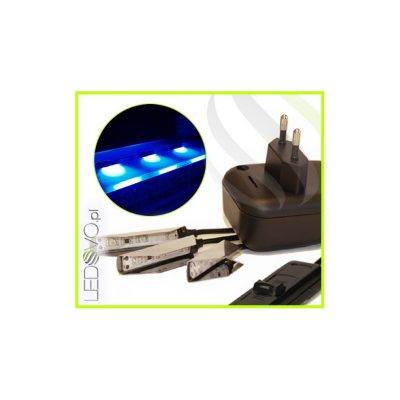 KLIPSY LED Ledovo SemiLed / ZESTAW 3 KLIPSÓW / NIEBIESKI