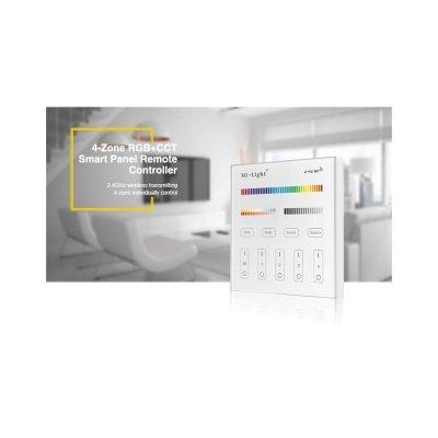 Szklany Panel Naścienny RGB+MULTIWHITE 4strefowy Radiowy230V