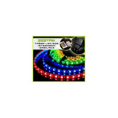 TAŚMA LED RGB 5050 /1mb/ +ZASILACZ +STEROWNIK IR 16 BARW