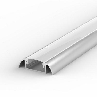 Profil LED Nawierzchniowy P2-1 anodowany z kloszem mlecznym 2m