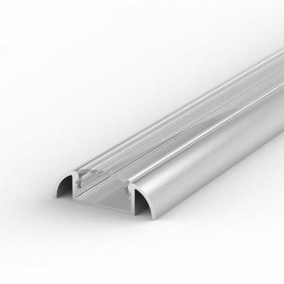 Profil LED Nawierzchniowy P2-1 anodowany z kloszem transparentnym 2m