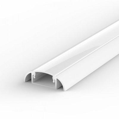 Profil LED Nawierzchniowy P2-1 biały lakierowany z kloszem mlecznym 2m