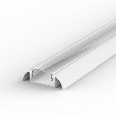 Profil LED Nawierzchniowy P2-1 biały lakierowany z kloszem transparentnym 2m