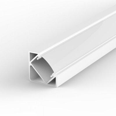 Profil LED Kątowy P3-1 biały lakierowany z kloszem mlecznym 1m