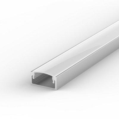 Profil LED Nawierzchniowy P4-1 anodowany z kloszem mlecznym 1m