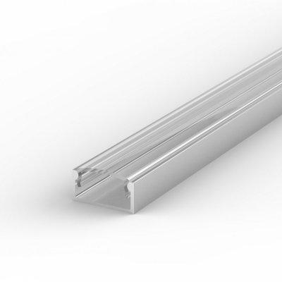 Profil LED Nawierzchniowy P4-1 anodowany z kloszem transparentnym 1m