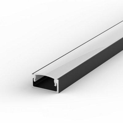 Profil LED Nawierzchniowy P4-1 czarny lakierowany z kloszem mlecznym 1m