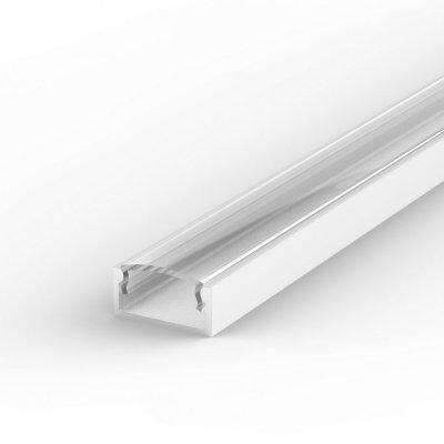 Profil LED Nawierzchniowy P4-1 biały lakierowany z kloszem transparentnym 2m