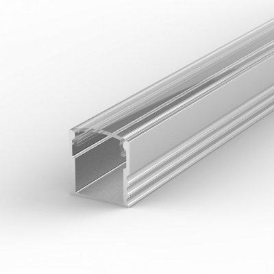 Profil LED Nawierzchniowy TLD5-1 anodowany z kloszem transparentnym 2m