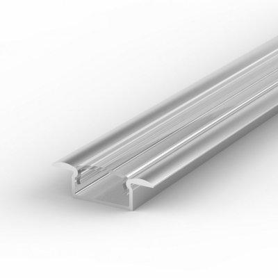 Profil LED Wpuszczany P6-1 anodowany z kloszem transparentnym 1m