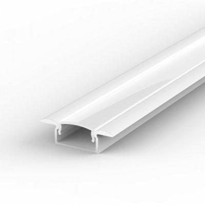 Profil LED Wpuszczany P6-1 biały lakierowany z kloszem mlecznym 1m