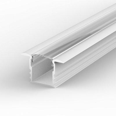Profil LED Wpuszczany TLD18-1 biały lakierowany z kloszem transparentnym 2m