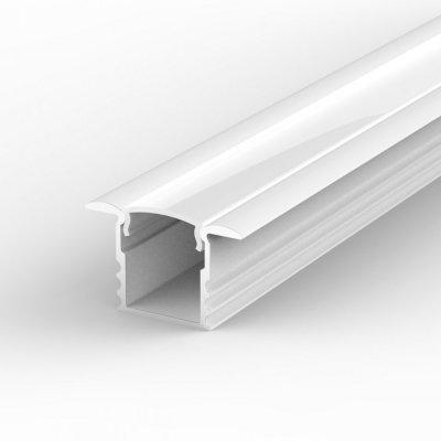 Profil LED Wpuszczany P18-1 biały lakierowany z kloszem mlecznym 2m