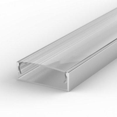 Profil LED Nawierzchniowy TLD13-1 anodowany lakierowany z kloszem transparentnym 2m