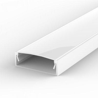 Profil LED Nawierzchniowy P13-1 biały lakierowany z kloszem mlecznym 2m