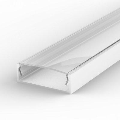 Profil LED Nawierzchniowy P13-1 biały lakierowany z kloszem transparentnym 1m