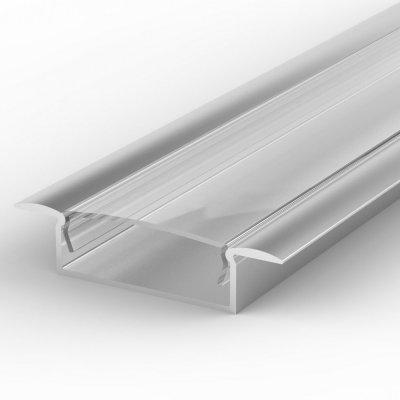 Profil LED Wpuszczany TLD14-1 AN z kloszem transparentnym 1m