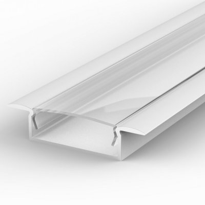 Profil LED Wpuszczany TLD14-1 WH z kloszem transparentnym 2m
