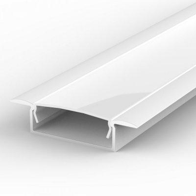 Profil LED Wpuszczany TLD14-1 biały lakierowany z kloszem mlecznym 2m