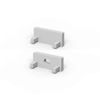 Zaślepki boczne do profili P11 srebrne (2 sztuki)