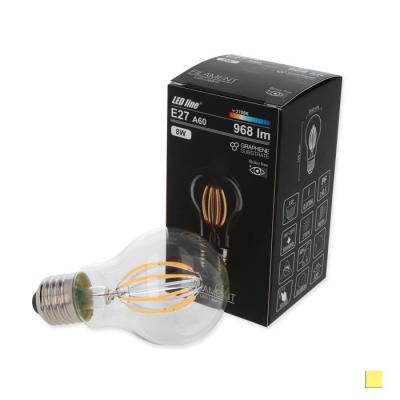 Żarówka LED LEDLINE E27 duży gwint A60 8W biała dzienna filament