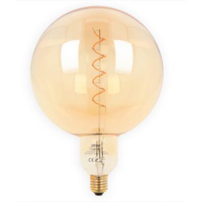 Żarówka LED LEDLINE E27 duży gwint G200 SPHERA złota 4W biała ciepła filament