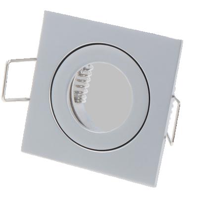 OPRAWA SUFITOWA WODOODPORNA LED GU11 MR11 IP44 KWADRATOWA - GRAFIT
