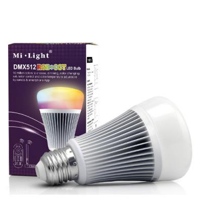 Inteligentna Żarówka Mi-Light E27 DMX512 9W RGB+CCT