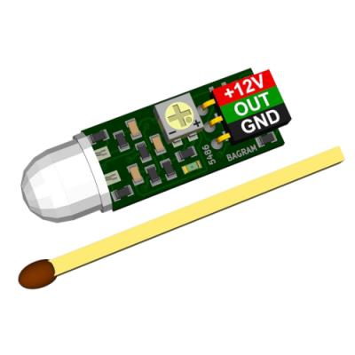 Miniaturowy czujnik ruchu 12V z regulacją czułości