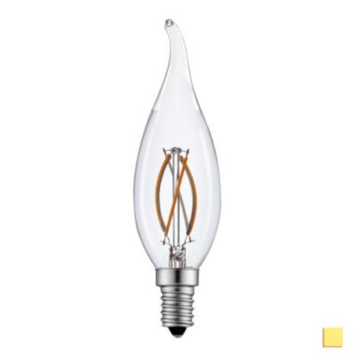 Żarówka LED LEDLINE E14 mały gwint 2W filament F35 świeczka biała dzienna