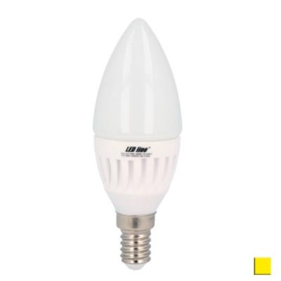 Żarówka LED LEDLINE E14 mały gwint 7W świeczka biała ciepła