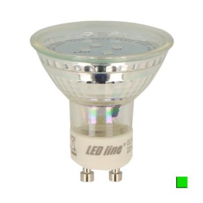 Żarówka LED LEDLINE GU10 halogen 1W zielona