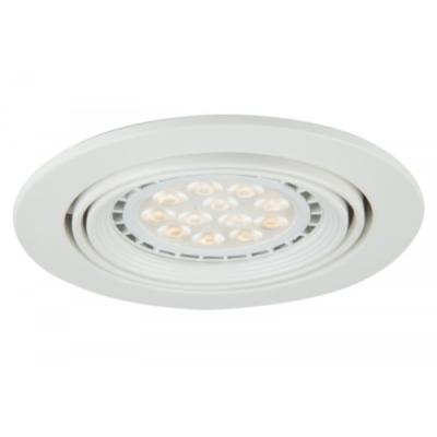 Oprawa sufitowa VITO LED halogenowa dekoracyjna GU10 okrągła ruchoma stal biała