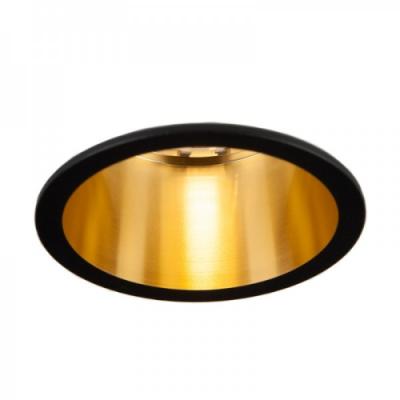 Oprawa sufitowa VITA S oczko LED halogenowa dekoracyjna GU10 okrągła aluminium czarny złoty