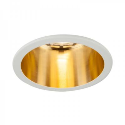 Oprawa sufitowa VITA S oczko LED halogenowa dekoracyjna GU10 okrągła aluminium biały złoty