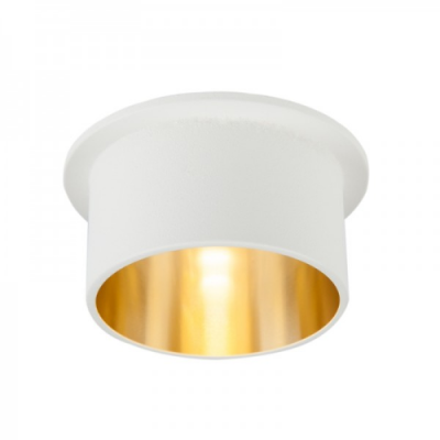 Oprawa sufitowa VITA M oczko LED halogenowa dekoracyjna GU10 okrągła aluminium biały złoty