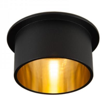Oprawa sufitowa VITA M oczko LED halogenowa dekoracyjna GU10 okrągła aluminium czarny złoty