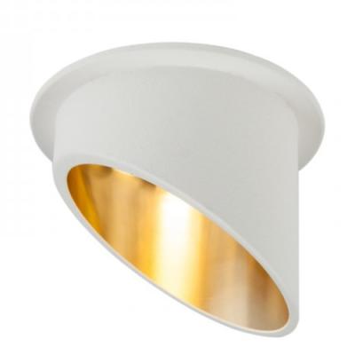 Oprawa sufitowa VITA L oczko LED halogenowa dekoracyjna GU10 okrągła aluminium biały złoty