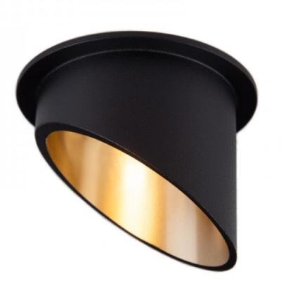 Oprawa sufitowa VITA L oczko LED halogenowa dekoracyjna GU10 okrągła aluminium czarny złoty