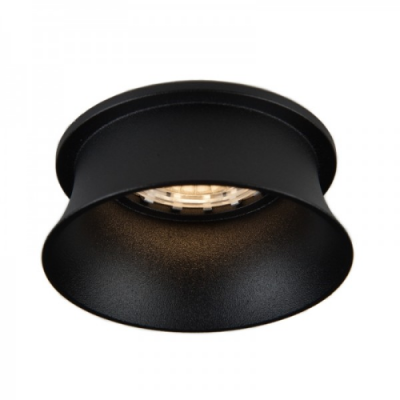 Oprawa sufitowa VIDE oczko LED halogenowa dekoracyjna GU10 okrągła aluminium czarny