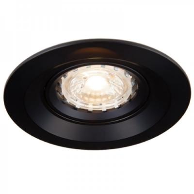 Oprawa sufitowa ALTER LED halogenowa dekoracyjna GU10 okrągła ruchoma aluminium czarna