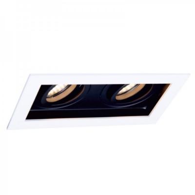 Oprawa sufitowa RENE 2 LED halogenowa dekoracyjna GU10 kwadratowa ruchoma aluminium biała