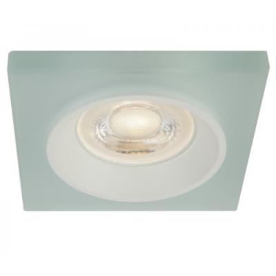 Oprawa sufitowa VENI oczko LED halogenowa dekoracyjna GU10 kwadratowa szkło mleczne