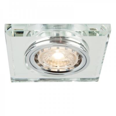 Oprawa sufitowa VIDI oczko LED halogenowa dekoracyjna GU10 kwadratowa szkło srebrny chrom