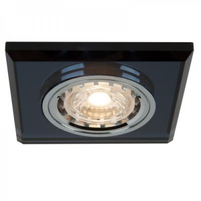 Oprawa sufitowa VIDI oczko LED halogenowa dekoracyjna GU10 kwadratowa szkło czarny chrom
