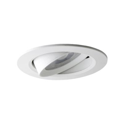 Oprawa LED do wbudowania dekoracyjna okrągła ruchoma z tworzywa 230V 7W 560LM biała